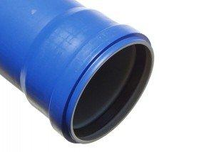 Plastic pipe with ring seat