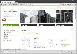 Website FPC, screenshot of 06 January 2014