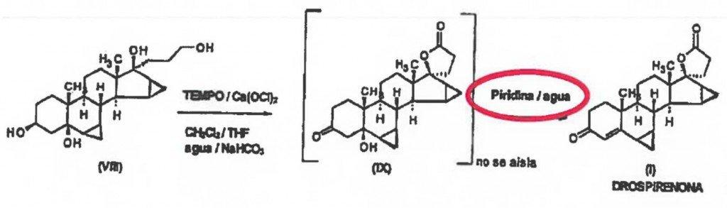 Allegedly used method of manufacturing drospirenone