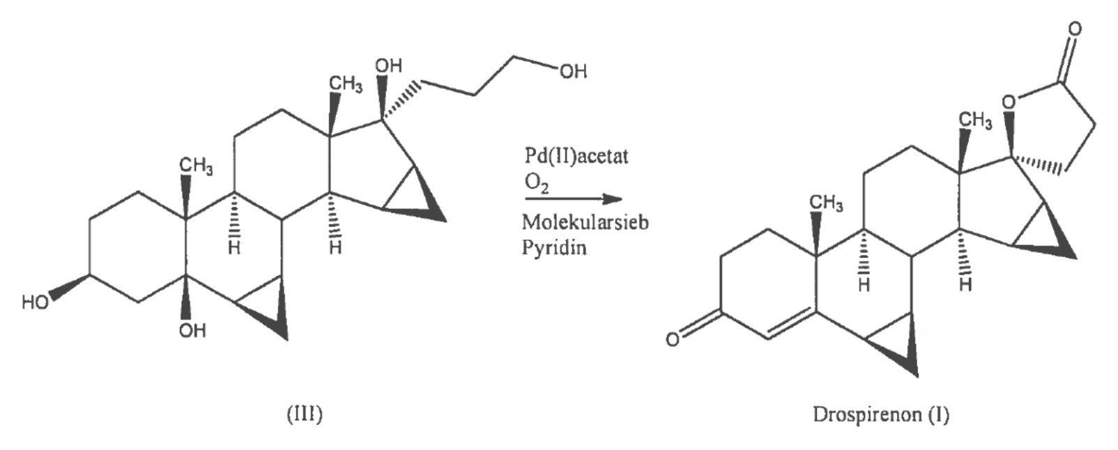 Palladium-catalyzed one-step synthesis of drospirenone