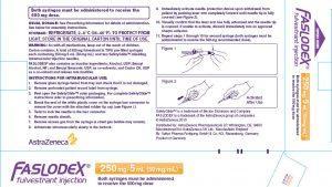 AZ's Faslodex® package